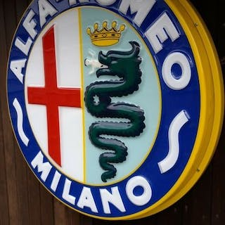 Sign - Alfa Romeo - Genuine Rare Large Alfa Romeo...