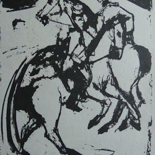 Ernst Ludwig Kirchner ( 1880, 1938 ) - Auf dem Kasernenhof
