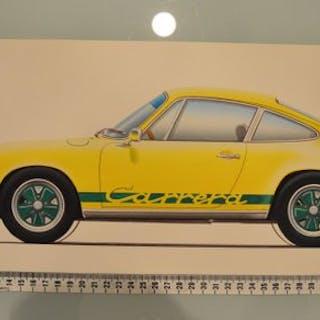 """Unique original drawing - """"Porsche 911 Carrera RS"""" - 2015"""