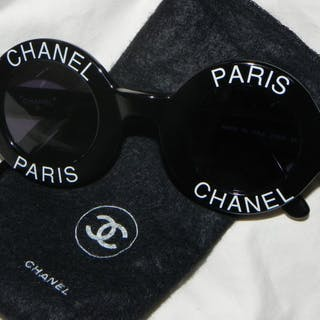 d82159a7ca Chanel Vintage Round Logo Sunglasses Circle Eye Wear... – Current sales –  Barnebys.com