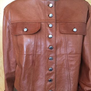 6720c0dac42 Yves Saint Laurent - Leather jacket – Current sales – Barnebys.com