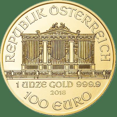 Austria - 100 Euro 2018 Wiener Philharmoniker - 1 oz - Gold