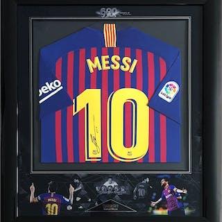 Signed Barcelona FC - Lionel Messi - 2019 - Signed Jersey Shirt