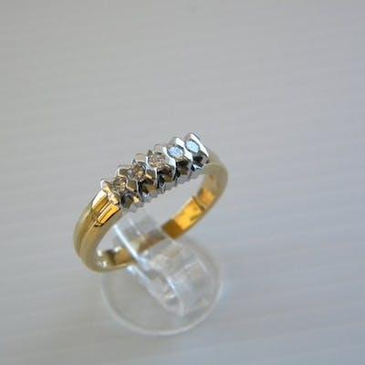 18 carati Oro giallo - Anello - 0.25 ct Diamante