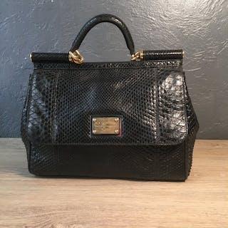 Dolce   Gabbana - Sicily PythonHandbag – Current sales – Barnebys.co.uk c35d5cb5b5f56