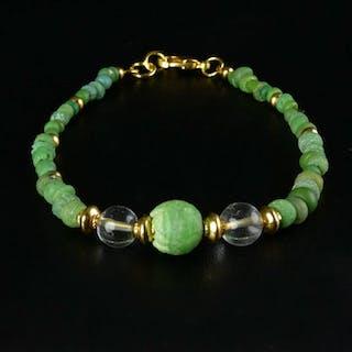 Römisches Reich Glas Armband mit grünen Glas- und...