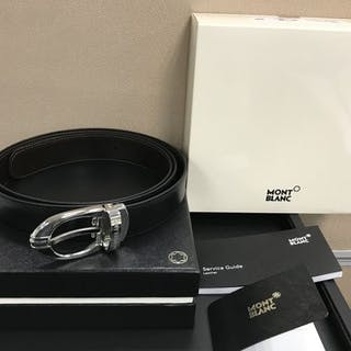 Montblanc - Classic Reversible Leather Belt (Ref. 106148) Belt