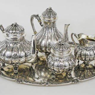Coffee and tea service (5) - .800 silver - Mazzocchi Aldo...