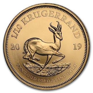 South Africa - 1/10 Krugerrand 2019 - 1/10 oz - Gold