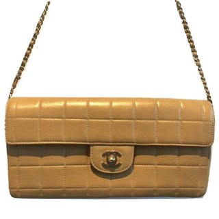 a75151a01f05 Chanel - Beige Quilted Leather Leather Classic East Shoulder bag – Current  sales – Barnebys.com