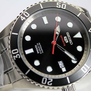 4d6363c6326 Seiko - 5 Sports Automatic Black - SRPB91K1 - Men - 2019 – Current sales –  Barnebys.com