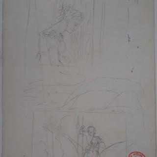 Edgar Degas (1834 - 1917) - Au théatre : Spectatrice et Saint George