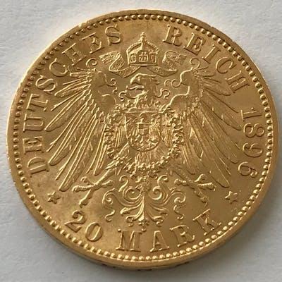 Deutschland - Preußen - 20 Mark 1896 A - Wilhelm II. - Gold