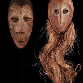 masks (2) - Wood - Bwami - Lega - Congo