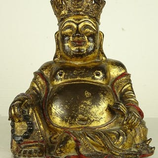 Figure of a seated Buddha- Gilt bronze - China - Ming Dynasty (1368-1644)