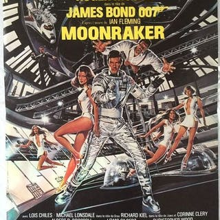 Moonraker, 1979 - James Bond 007 - Roger Moore - Original release French poster