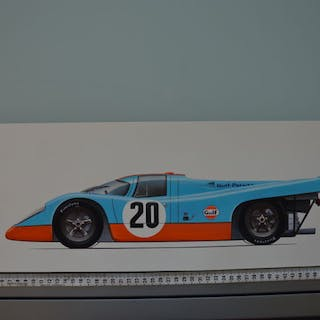 "Unique original drawing - ""Porsche 917 K"" - 2015"