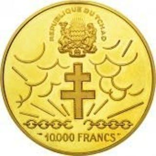 Chad 10 000 Francs 1960 General De Gaulle Gold Current Sales
