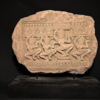 Sculpture - Pierre - Danseur, Dieu - Cambodge - XIXe siècle