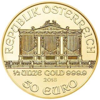 Autriche - 50 Euro 2018 - Or