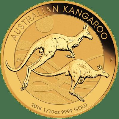 Australie - 15 Dollars 2018 Kangaroo - 1/10 oz - Or
