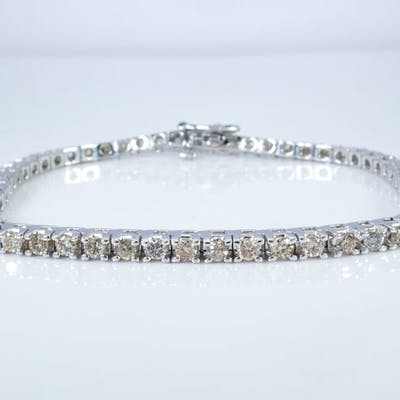 14 Kt Gold 2 75 Carat Diamond Brilliant Tennis Bracelet