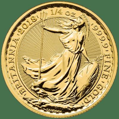 Royaume-Uni - 25 Pounds 2018 Britannia - 1/4 oz - Or