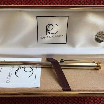 ROBERTO CAPUCCI Full Silver 925%-Gold laminated22K - Roller ball pen
