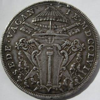 Italia - Stato Pontificio - Sede Vacante - Scudo Romano 1758 - Argento