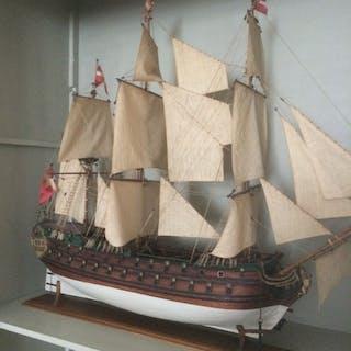 Model of the Dano-Norvegian Warship (Norske Love 1765)...