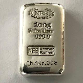 100 Gramm - Silber .999 - Norddeutsche ES - Seal + Zertifikat