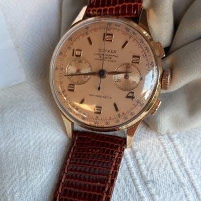 Docker - Cronografo Gold 18Kt- Landeron 48 - Men - 1960-1969