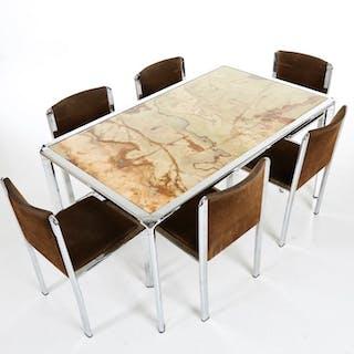 Design Eettafel Met 6 Stoelen.Italiaans Meubelproducent Design Eetkamertafel Met 6
