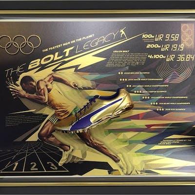Signed & Framed - Usain Bolt - Limited Edition Legacy Running Shoe