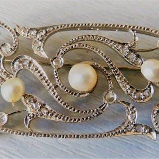 18 kt. White gold - Brooch Diamond