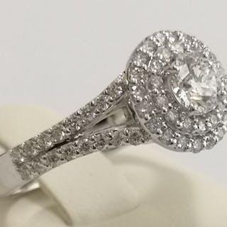 18 carati Oro bianco - Anello - 0.50 ct Diamante - Diamanti