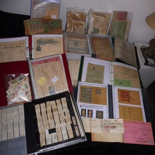 France 1860/1992 - Large Collection of excise stamps and documents