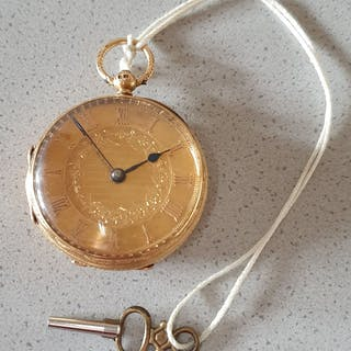 19. London - Golden Prunktaschenuhr - Men - England 1870