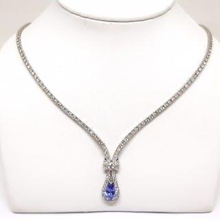 0170fcf71 950 pt Platinum - Necklace Diamond – Current sales – Barnebys.com