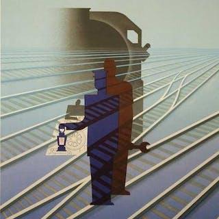 Paul Colin - SNCF - Affiche de lithographie originale rare 1947