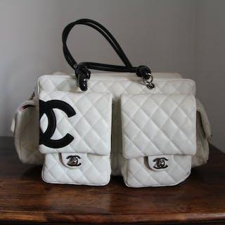 99ec7405843b90 Chanel - Cambon Quilted Ligne ReporterShoulder bag – Current sales –  Barnebys.com