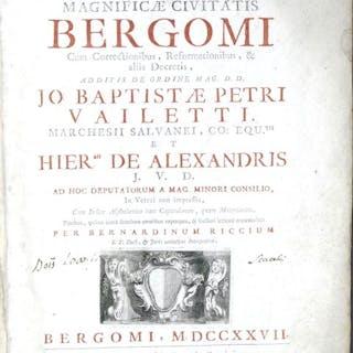 Statuta magnificae civitatis Bergomi cum correctionibus - 1727