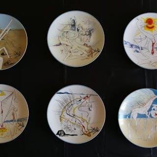 Limoges -  collezione Dipinti Salvator Dali' su piatti in...