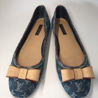 Louis Vuitton - ballerine blu jeans denim monogramBallerina shoes
