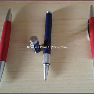 ■Mercedes - Parure 3 Mercedes Ballpoint Pens - NEW - NEVER USED - NEVER INK IN ■