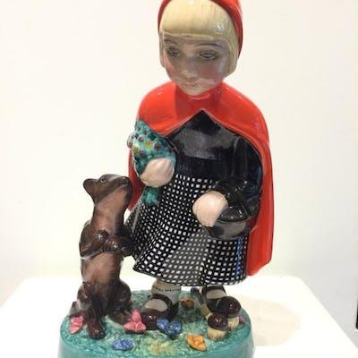 Igni Torino - Statuetta/e, Cappuccetto rosso e il lupo - Ceramica