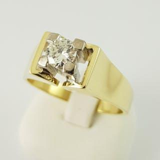 14 kt. Yellow gold - Diamond Ring-558 Gold-1 Diamond, 0.60 ct - 0.60 ct Diamond