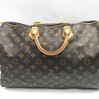 146b7132c66 Louis Vuitton - Speedy 25 Brown Leather Satchel Handbag Catawiki · Louis ...