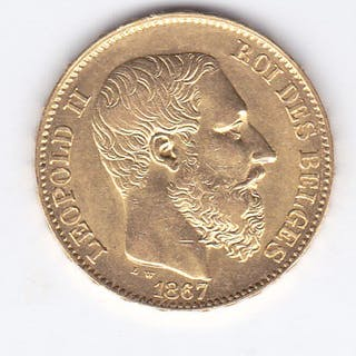 Belgium - 20 Francs 1867 Leopold II - Gold