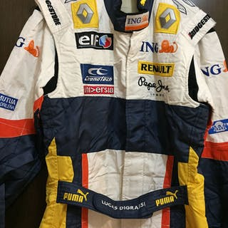ING Renault f1 team - Formula One - Lucas di Grassi - 2008 - Race suit overall